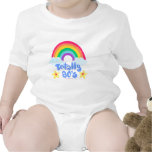 Totally 80s rainbow baby bodysuits