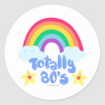 Totally 80s rainbow stickers