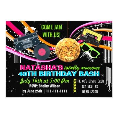 Totally 80 S Birthday Party Invitations Zazzle Com