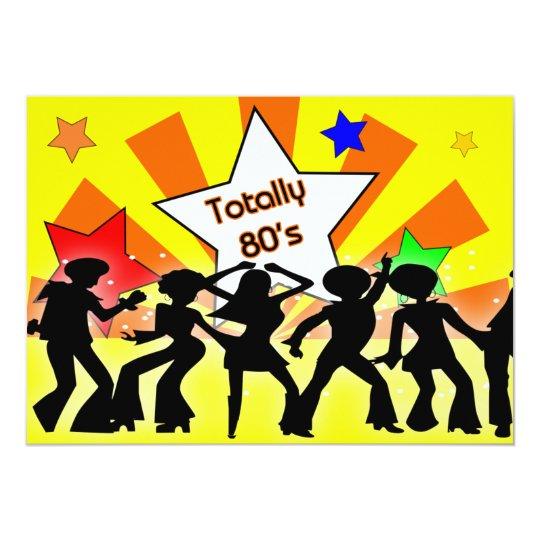 totally 80 s retro party invitation zazzle com