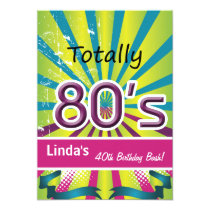 totally 80's retro  party Invitation