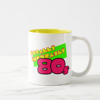 Totally and Incurably 80s Two-Tone Coffee Mug