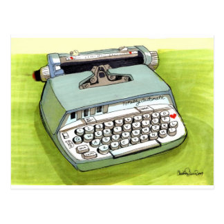 Totally Auto Matic Classic Typewriter Postcard