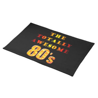 Totally Awesome 80s Cloth Placemat