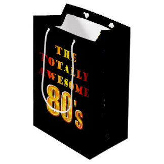 Totally Awesome 80s Medium Gift Bag