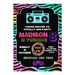 Totally awesome 90s party invitation