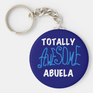 Totally Awesome Abuela Blue Tshirts and Gifts Basic Round Button Keychain