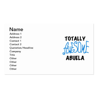 Totally Awesome Abuela Blue Tshirts and GIfts Business Card