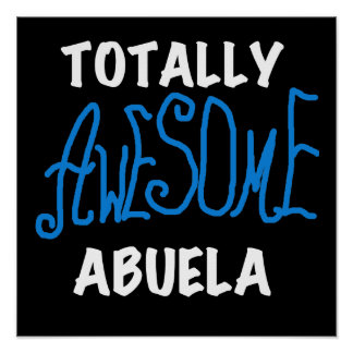 Totally Awesome Abuela Blue Tshirts and Gifts Print