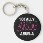 Totally Awesome Abuela Pink T-shirts and Gifts Basic Round Button Keychain