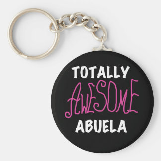 Totally Awesome Abuela Pink T-shirts and Gifts Keychain