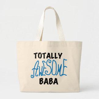 Totally Awesome Baba Tshirts and Gifts Jumbo Tote Bag