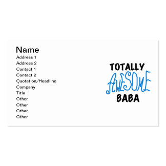 Totally Awesome Baba Tshirts and Gifts Double-Sided Standard Business Cards (Pack Of 100)