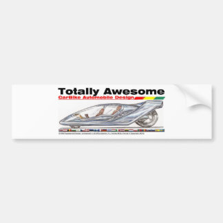 Totally Awesome Carbike v1 Bumper Sticker
