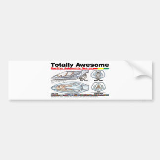 Totally Awesome CARBIKES v8 Bumper Sticker