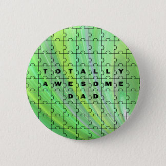 Totally Awesome Dad Puzzle Green Button