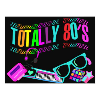 Totally Awesome Eighties Invite