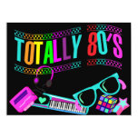 "Totally Awesome Eighties Invite 6.5"" X 8.75"" Invitation Card"