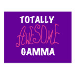 Totally Awesome Gamma Pink Tshirts and Gifts Postcard