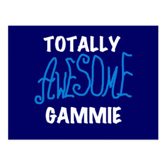 Totally Awesome Gammie Blue T-shirts and Gifts Postcard