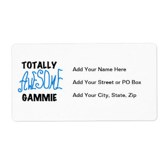 Totally Awesome Gammie Blue Tshirts and Gifts Label
