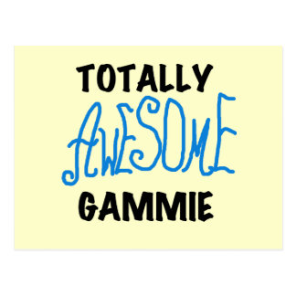 Totally Awesome Gammie Blue Tshirts and Gifts Postcard