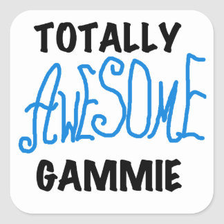 Totally Awesome Gammie Blue Tshirts and Gifts Stickers