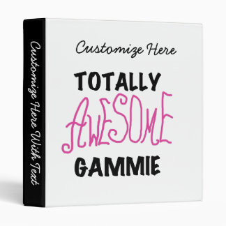 Totally Awesome Gammie Pink T-shirts and Gifts Binder