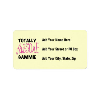 Totally Awesome Gammie Pink T-shirts and Gifts Label