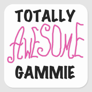 Totally Awesome Gammie Pink T-shirts and Gifts Square Sticker