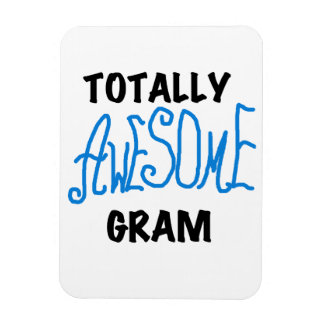 Totally Awesome Gram Blue Gifts Vinyl Magnet
