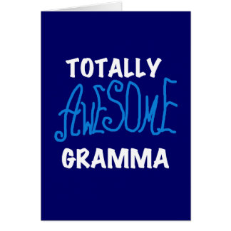 Totally Awesome Gramma Blue T-shirts and Gifts Card