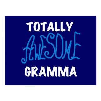 Totally Awesome Gramma Blue T-shirts and Gifts Postcard