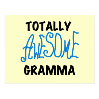 Totally Awesome Gramma Blue Tshirts Gifts Postcard