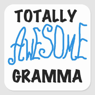 Totally Awesome Gramma Blue Tshirts Gifts Square Stickers