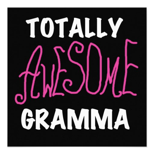 Totally Awesome Gramma Pink T-shirts Gifts Invite
