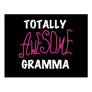 Totally Awesome Gramma Pink T-shirts Gifts Postcard