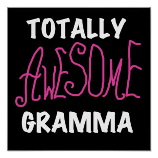 Totally Awesome Gramma Pink T-shirts Gifts Print