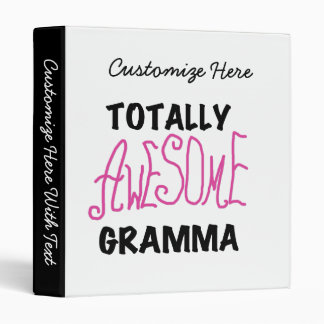 Totally Awesome Gramma Pink Tshirts Gifts Binder