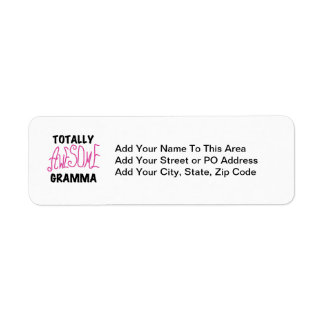 Totally Awesome Gramma Pink Tshirts Gifts Label