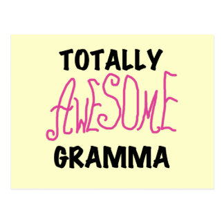 Totally Awesome Gramma Pink Tshirts Gifts Postcard