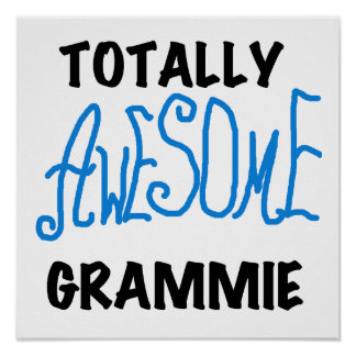 Totally Awesome Grammie Blue T-shirts Gifts Print