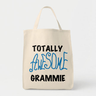 Totally Awesome Grammie Blue T-shirts Gifts Tote Bag