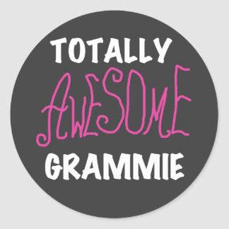 Totally Awesome Grammie Pink T-shirts Gifts Classic Round Sticker