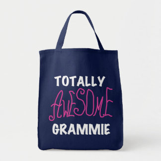 Totally Awesome Grammie Pink T-shirts Gifts Tote Bag