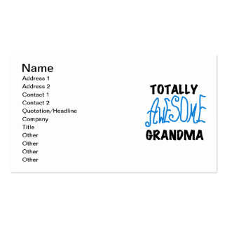 Totally Awesome Grandma - Blue Tshirts and Gifts Business Card Templates