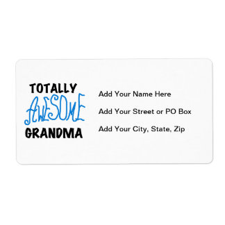 Totally Awesome Grandma - Blue Tshirts and Gifts Label
