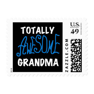 Totally Awesome Grandma Blue Tshirts and Gifts Postage