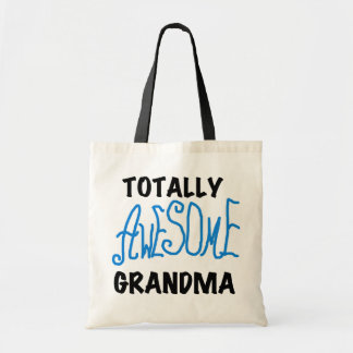 Totally Awesome Grandma - Blue Tshirts and Gifts Tote Bag
