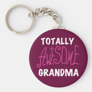 Totally Awesome Grandma Pink T-shirts and Gifts Key Chains